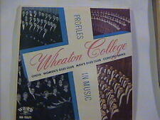WHEATON COLLEGE PROFILES IN MUSIC WOMENS MENS GLEE CLUBS  WORD LP # 3108 N/M