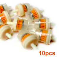 "10x New 1/4"" 6-7mm Motorcycle Hose Inline Fuel Gas Filter Fit For Honda Yamaha"