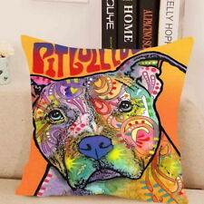 Staffordshire Bull Terrier Hund Showy Staffy art printed on pillow case Pit bull