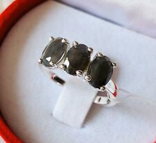 Silver Sapphire 925 Sterling Silver Ring Size M