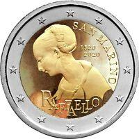 2 Euro Gedenkmünze San Marino 2020 coloriert / mit Farbe Farbmünze Raffael  2