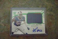 Preston Brown 2014 National Treasures Rpa Auto Rc 2 Color Patch 04/52 Bills Mint