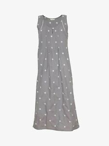 Nora Rose by Cyberjammies Embroidered Spot Nightdress, Grey UK SIZE 10