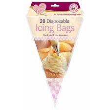 20 Bolsas Desechables un. Glaseado tuberías Reposteria Pastel Cupcakes Sugarcraft herramientas