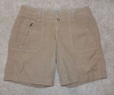 New Eddie Bauer Sz 2 Khaki Shorts Cotton Tan Blakely Fit Hiking Outdoor