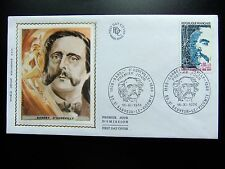 Enveloppe 1é jour du 16 11 1974 de St Sauveur le Vicomte Barbey d'Aureville 1808