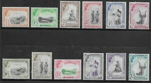 SWAZILAND 1961 QE II SET LHM SG 78/89 CV £45