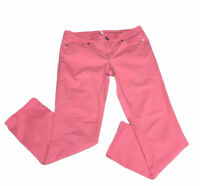 Ann Taylor Loft Women's Pants Size 29/8 Pink Modern Straight Mid Rise
