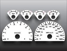 2001-2003 Dodge Dakota Dash Cluster White Face Gauges 01-03