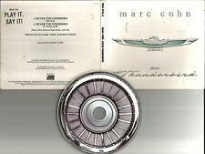 Marc Cohn SILVER THUNDERBIRD LOGO EDIT PROMO DJ CD Single w/ PRINTED LYRICS USA