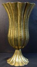 Josef (Joseph)  Hoffmann Wiener Werkstatte Hammered Brass Fluted Vase