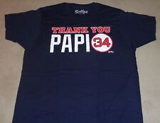 Boston Fenway Red Sox David Ortiz Thank You Papi Final Game T Shirt Mens Large
