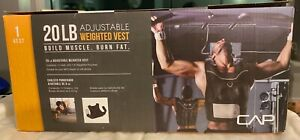 CAP 20lb Pound Adjustable Weighted Vest WEIGHTS INCLUDED