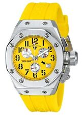 Swiss Legend 10535-07 Women's Trimix Diver Chronograph Watch Yellow New in Box!