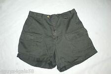 Womens DARK ARMY GREEN KHAKI SHORTS Dressbarn CARGO LEG POCKETS Dressy Casual 14