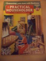 PRACTICAL HOUSEHOLDER OLD VINTAGE RETRO DIY CRAFTS MAGAZINE 1950S oct 1956