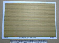 """OO/HO gauge (1:76) scale)"""" yellow roof tile"""" paper - A4 sheet"""