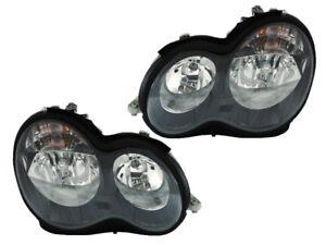 Mercedes Benz C230 C240 C320 C280 01-07 Black Headlight