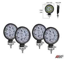 4 Pcs Best Quality 27w 9 Led Spot Beam Round Work Lights Lamps Offroad Tractor