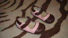 ROBEEZ 16-20 PINK BROWN LEATHER FLOWER SHOES TREDZ