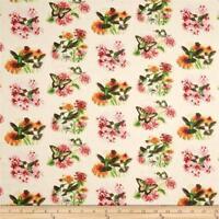 Fabric Hummingbirds by Elizabeth Full on Cream Cotton by the 1/4 yard BIN