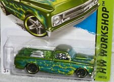 2015 HOT WHEELS '67 Chevy C10 Pickup Col. #208/250 Green with Flames