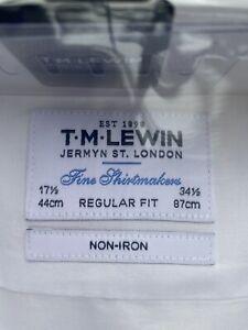 "Lewin Cotton Shirt 17.5"" Regular Non- Iron"