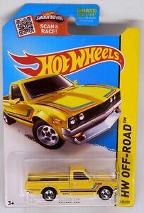 Hot Wheels Datsun 620 Pickup Truck Yellow w/Stripes K-Mart 1/64 Scale Diecast