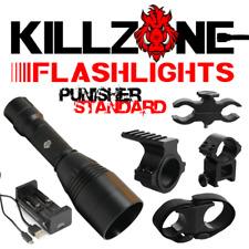 Killzone Flashlights 350 Yard Green LED Hog or Coyote Hunting Light Package