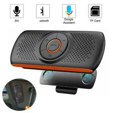 Wireless 4.2 Bluetooth Handsfree Speaker Phone MP3 Car Kit Sun Visor Clip Drive