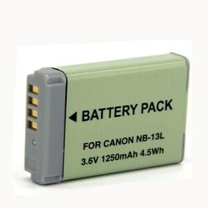 New NB-13L  Battery for Canon PowerShot G7X G7 X Digital Camera Li-ion