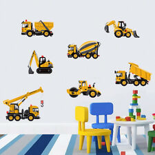 Educational Wall Stickers Transport Cars Truck Digger Removable Wall Decal Art