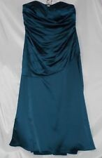David's Bridal PlusSize 20 Peacock Blue Long Dress Evening Party Christmas New