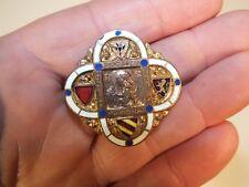 Ancienne insigne émaillée Chobillon Diocèse de Cambrai - ND de Grâce