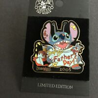 DLR - Father's Day 2005 Stitch Pin on pin LE 1500 Retired Disney Pin 39296