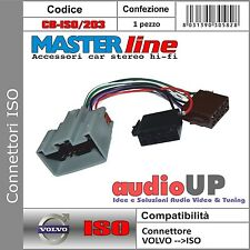 CONNETTORE AUTORADIO ISO COMPATIBILE PER VOLVO C30 DAL 2004 IN POI - MASTERLINE