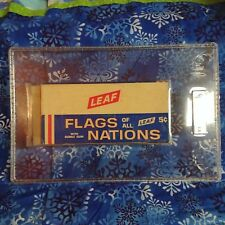 1967 Leaf Flags Of All Nations GAI Graded Empty Box Unused NM+ 7.5