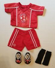 American Girl Bitty Baby Twins Red Soccer Outfit With Soccer Cleats Shoes