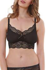 NEW FREYA 'Fancies' Soft Bralette Black Size S $38 #AA1010