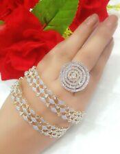 Stylish Trendy Stone Beaded Bangles & Ring Set For Women's Wedding Party Wear