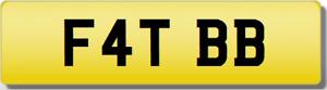 FAT 88  BB TBB 1988TB F4  Private CHERISHED Registration Number Plate