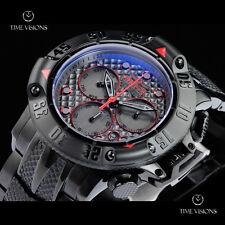 Invicta 50mm Subaqua Poseidon Black Ionic Plated Chronograph Bracelet Watch