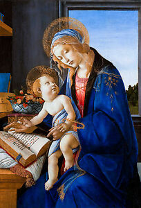 Sandro Botticelli - The Virgin and Child, The Madonna of the Book, Canvas Print