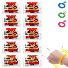 10 Anti Mosquito Insect Bug Bracelet Long Lasting Repellent Repeller Wrist Band