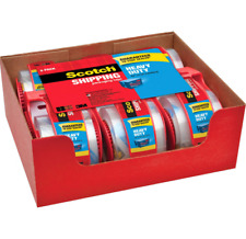Scotch Heavy Duty Shipping Packaging Tape with 6 Rolls (1.88 x 800 Inches)