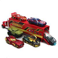 7PCS Justice League Avengers Batmobile Truck & Car Model Toy Vehicle Gift Kids