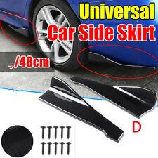 2x Carbon Look 19inch Universal Car Rear Bumper Lip Splitter Spoiler Side Skirts