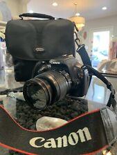 Canon rebel t3 eos 1100D camera, 18-55mm lense, supplies included (read descrip)