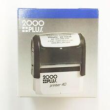 2000 PLUS PRINTER 40 CUSTOM STAMP KIT SELF INMKNEW IN BOX. No Letters,No Numbers