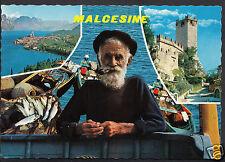 Italy Postcard - Lago Di Garda - Malcesine Fisherman  WC207